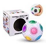Magic Ball Fidget Rainbow Ball 3D Puzzle Cube Speed Bola del Arco Iris Educación Juguetes Anti Estrés para Niños Adultos Adolescentes (Blanco)