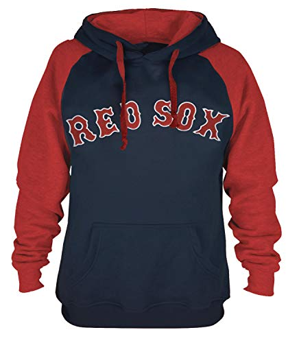 Mens Athletic Baseball Red Sox Pullover Hoodie (M)