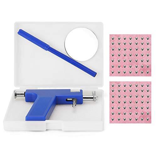 Ohr Nasenpiercing Maschine, Edelstahl Piercing Tool Keine Schmerzen Piercing Kit Werkzeuge mit Ohrstecker Werkzeuge +mit 98St nieten Kit