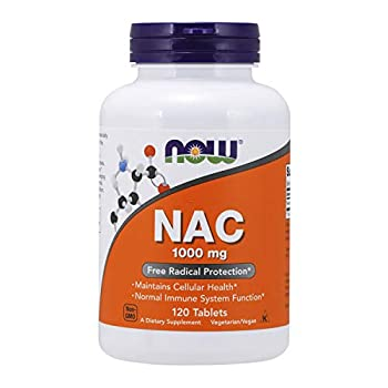 NOW Foods Supplements NAC  N-Acetyl-Cysteine  1,000 mg Free Radical Protection 120 Tablets
