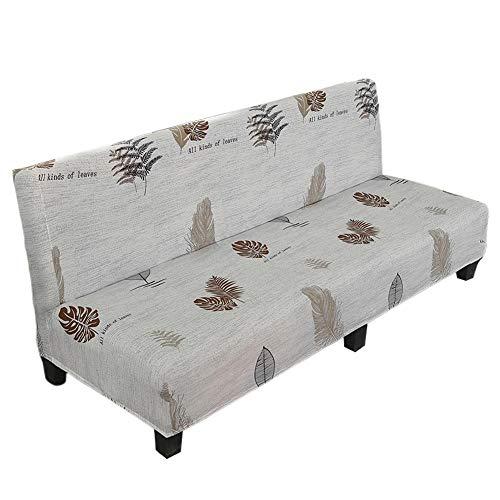 SNIIA Elastisch Sofabezug ohne armlehnen Klappsofa Überwürfe Sofabezug 3-Sitzer Elastische voll zusammenklappbare Couch Sofa Schild passt zusammenklappbare Sofa-Bett ohne Armlehnen