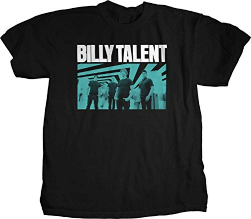 BILLY TALENT - Billy Talent - Männer Blau-Foto-T-Shirt, Large, Black