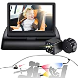 Sixmas Baby Car Mirror, Baby Car Camera with 3 Universal Mount, View Infant in Rear Facing Seat with Wide Crystal Clear View (Night Vision Function Upgrade)
