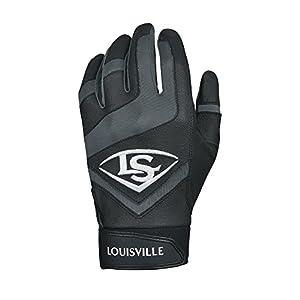Louisville Slugger Genuine Adult Batting Gloves - XX-Large, Black