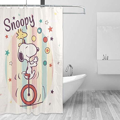 liangchunmei Badezimmer Duschvorhang Snoopy Cute Home Decor Duschvorhänge mit Haken 60 'X 72'