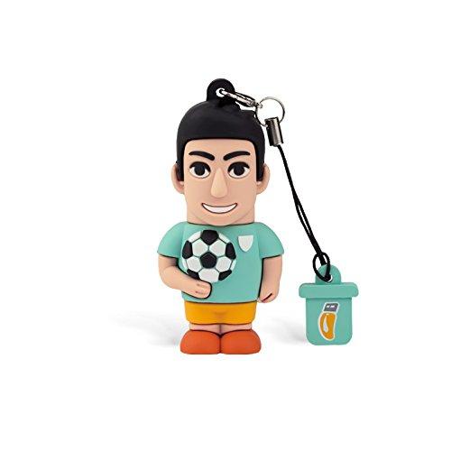 Professional USB - Memoria USB, modelo futbolista, simpáticos pendrives USB de 8GB, con Flash Drive 2.0, tarjeta de memoria para almacenamiento de datos, con llavero
