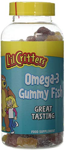 L'il Critters Omega-3 Gummy Fish Food Supplement 180 Pack