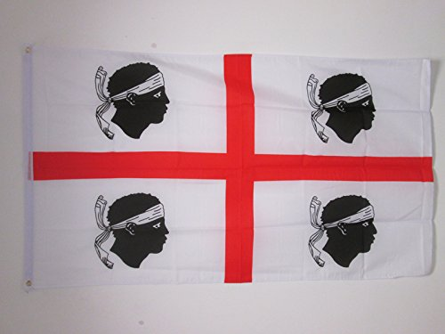AZ FLAG Flagge SARDINIEN 150x90cm - SARDINIEN Fahne 90 x 150 cm - flaggen Top Qualität