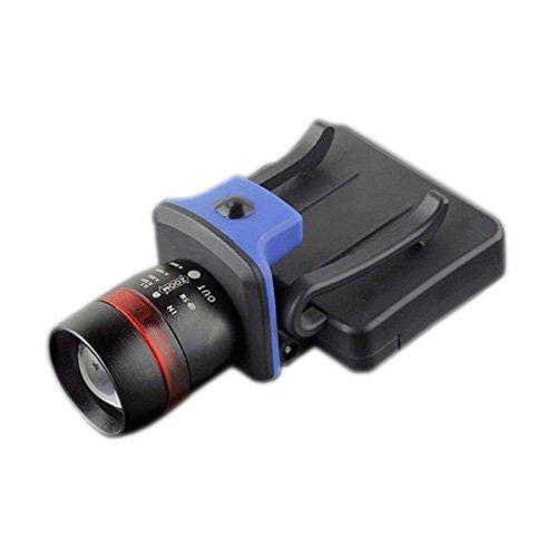 Faro - TOOGOO(R)XPE LED 120 lumenes 3 modos impermeable zoomable con clip Luz casquillo gorro Faros negro