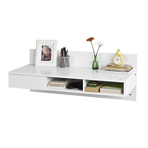 SoBuy® FWT30-W Wandtisch in weiß Schreibtisch Computertisch Kinderschreibtisch mit 1 Schublade BHT: 100x40x40cm