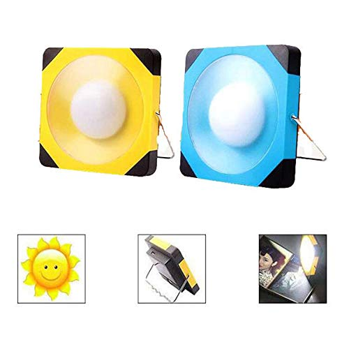 Select Zone Farol solar para tienda de campaña, recargable por USB, lámpara LED de emergencia (color: amarillo)