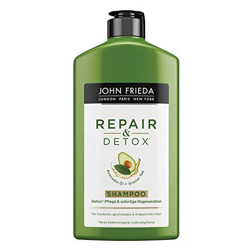 John Frieda Repair & Detox* Shampoo - Mit Avocado-Öl Und Grüntee - Für Strapaziertes Haar, 2er Pack (2 X 250 Ml) 25483