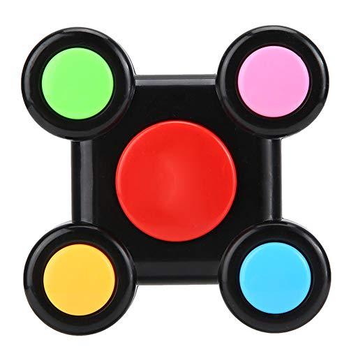 Juguete de memoria para niños, interacción de plástico inteligente, luz de música, juego de entrenamiento de memoria, juguete educativo para niños y niñas de 3 4 5 6 7 8 (doble mano)