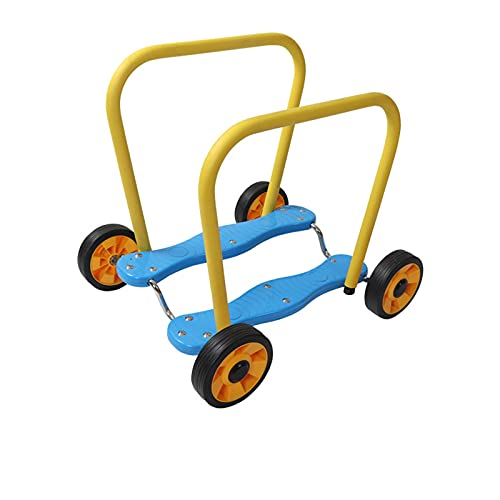 LDIW Bicicletas De Equilibrio Juguetes para Bebés Cuatro Ruedas Coche De Pedal De Entrenamiento Coche De Entrenamiento De Integración Sensorial para Niños Espesar Neumáticos Grandes,Azul
