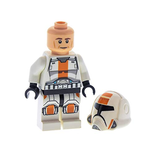 Bausteine gebraucht 1 x Lego System Figur Star Wars Old Republic Trooper 2 Weiss orange Helm Weiss orange 75001 11219pb01 973pb1343c01 sw444