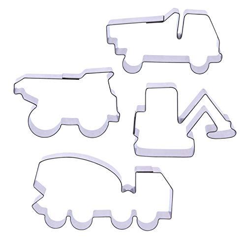 1 Keks - Ausstecher Set Baustellen Fahrzeuge