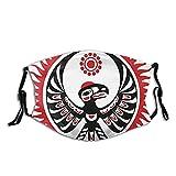 Máscara de regalo de Navidad Imagen mitológica Águila y Sol reutilizable lavable hombres mujeres paño polvo cubierta de la cara otoño escudo pasamontañas deportes al aire libre negro