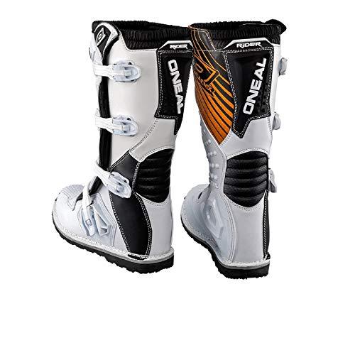 O'Neal Rider Boot MX Stiefel Weiß Moto Cross Enduro Motorrad, 0329-2, Größe 42 - 2