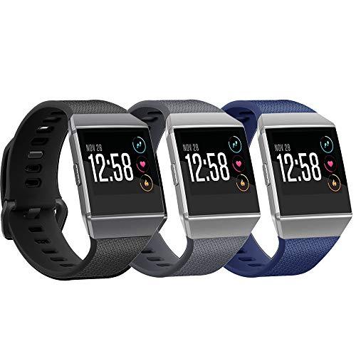 Yango Correa para Fitbit Ionic, Silicona Suave Pulsera con Hebilla de Metal,Respueto de Pulsera para Fitbit Ionic