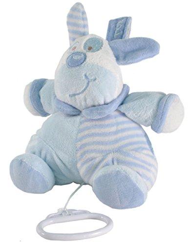 Tris&Ton Peluche musical 13 cm osito infantil bebé niño niña, oso peluche suave felpa modelo Musical Gordi Azul (Trisyton)