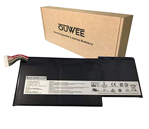 OUWEE BTY-M6K Laptop Battery Compatible with MSI MS-17B4 MS-16K3 GS63VR 7RG Stealth Pro 7RG-005 7RG-036CN GF63 8RD-031TH 8RC-034CZ 9SC GF75 Thin 3RD 8RC 8RD 8SC 9SC-088CN Series 11.4V 52.4Wh 4600mAh