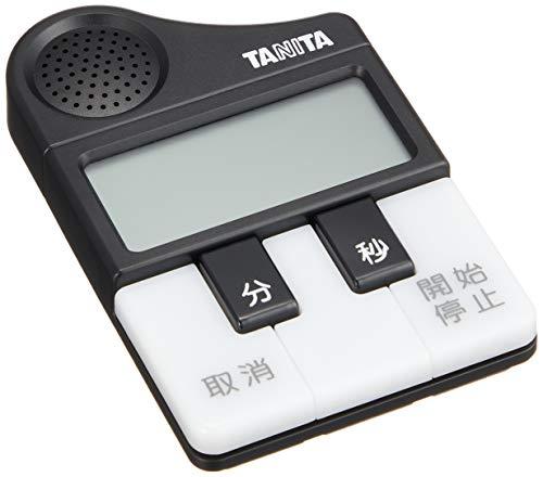 タニタタイマーマグネット付きメロディーお知らせブラックTD-382BK