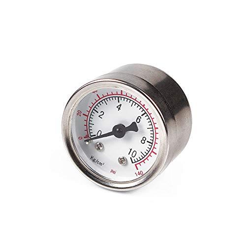 No-branded Odometer Spur Kraftstoff-Druckanzeiger Flüssiges 0-140PSI Öldruckmanometer Fuel Gauge Autozubehör 1/8 NPT Gewinde ZHQHYQHHX