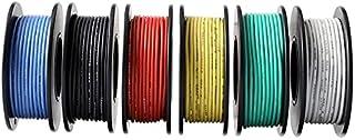 DZF697 30m / boîte 98ft Branchez Le Fil bloqué 18 AWG UL1007 PVC Fil électrique isolé cuivre 300V 6 Couleurs for DIY Lampe...
