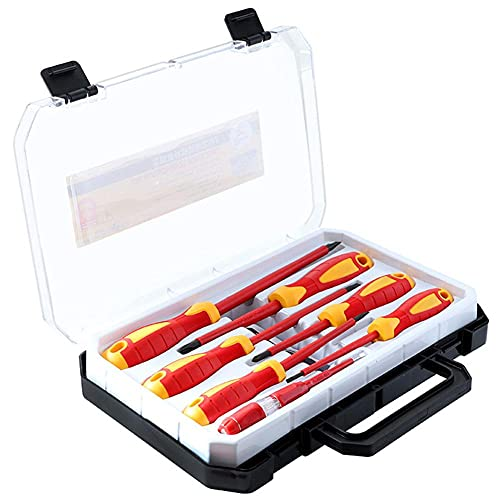 MaylFre Aislado Destornillador Phillips Destornilladores Intercambiables Conjunto ranurado Destornilladores con maletín de...