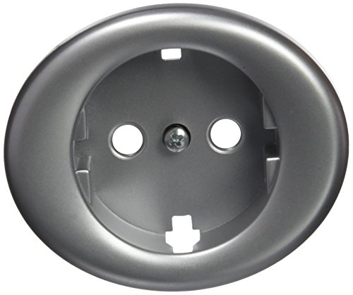 Niessen Tacto 5588 PL - Tapa enchufe tipo Schuko, color plata