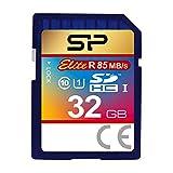 Silicon Power 32GB SDHC R85MB/s C10 UHS-1 Elite Memory Card (SP032GBSDHAU1V10) (Renewed)
