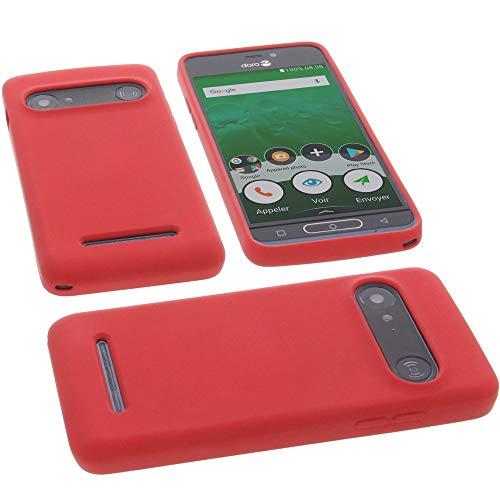 foto-kontor Hülle für Doro 8035 Tasche Silikon TPU Schutz Handytasche rot