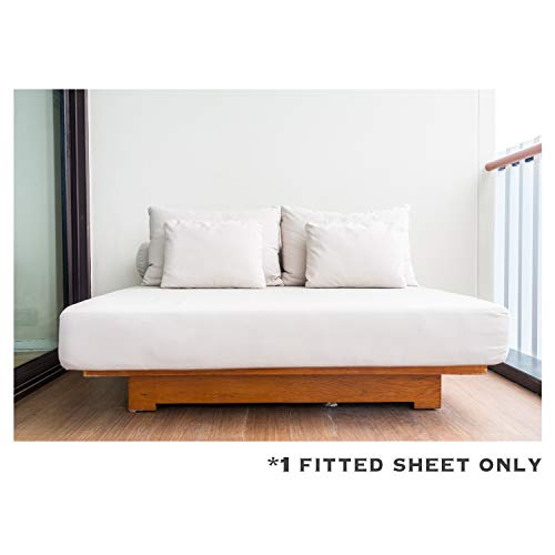 Kemberly Home Collection 100% Egyptian Cotton Sateen Weave 1000 Thread Count King Fitted Sheet with Elastic All Around - Fits Mattress Upto 18'' Deep Pockets White