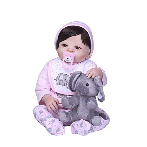 CAheadY 22 Zoll schöne Elefant realistische lebensechte Vinyl silikon Baby Reborn Puppe Spielzeug