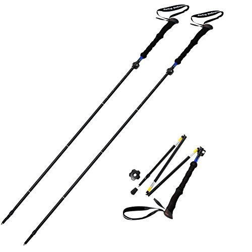 "Sterling Endurance Trekking Poles/Collapsible to 13 1/2"" / Hiking Poles Walking Sticks (Buy 1 Pole or 2 Poles)"