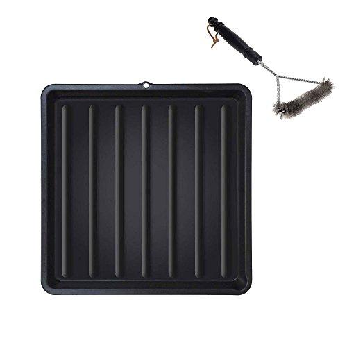 ToCi Grillrost Reiniger-Set | Reinigungs-Wanne aus Kunststoff 67x67 cm + Grillbürste 30x17 cm Grill-Zubehör