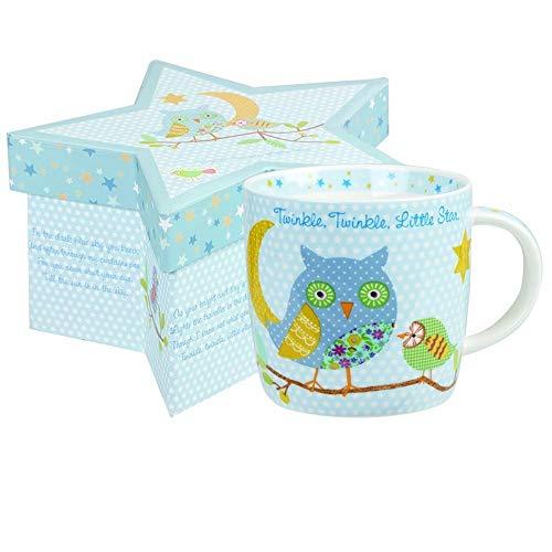 Queens Little Rhymes Taza de té Twinkle, con diseño de Especias, Color Azul, en Caja de Regalo de 230 ml, Porcelana, Multicolor, 7.6 x 7.6 x 11 cm