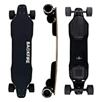 The Best entry level electric skateboard in the market Top speed: 24mph / 38kph Range: 11-12.5miles / 18-20km (80kg rider S mode 30km/h speed flat road) 400w hub motors Digit screen remote controller
