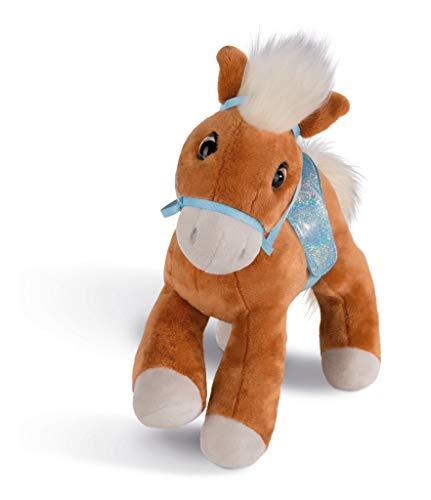 NICI knuffeldier paard leotie met tool en zadel, 35 cm