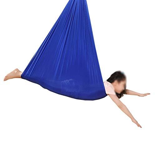 Jlxl Columpio De Silla De Hamaca, Exteriores for Adultos Y Niños, Portátil Swing De Terapia, Camping, Senderismo, Mochila Regalo (Color : Blue, Size : 150x280cm/59x110in)