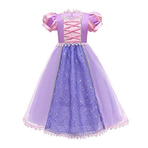 OBEEII Nia Disfraz de Princesa Sofa Tul Cumpleaos Partido Vestido 3-4 Aos