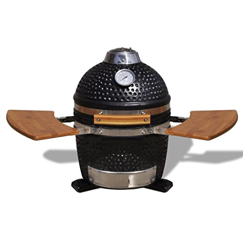 vidaXL Kamado Barbecue Grill Smoker, Ceramic, 44 cm