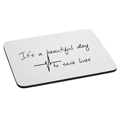 It's A Beautiful Day to Save Lives Derek Shepherd Grey's Mouse Pad - Black