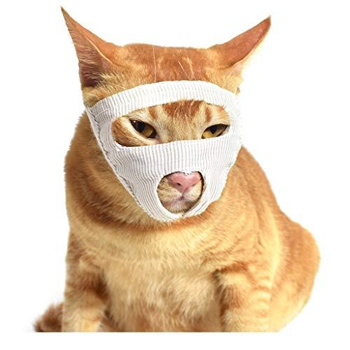 Z-PET Maulkorb für Katzen, Katzenmaulkorb atmungsaktives Mund-Gesichts-Abdeckung, Haustier-Fellpflege-Hilfsmittel für Beißen, Lecken und Miauen