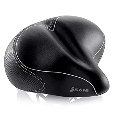 Oversized Comfort Bike Seat Most Comfortable Replacement Bicycle Saddle for Cycling | Universal Fit for Outdoor Exercise Bikes & Indoor Spin Bikes | Wide Soft Padded Bike Saddle For Women and Men