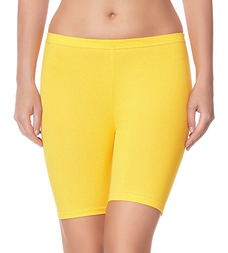 Leggins amarillos cortos deportivos