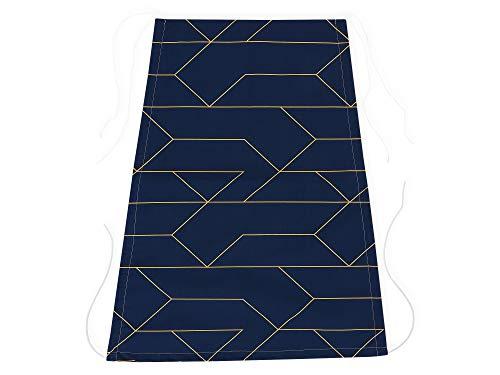 KraftKids lignes Voile d'ombrage Doré sur bleu foncé