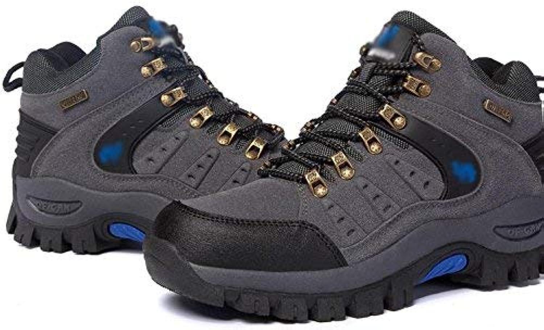 Oudan Men hiking hiking shoes outdoor sports waterproof winter (color   Grey, Size   37)
