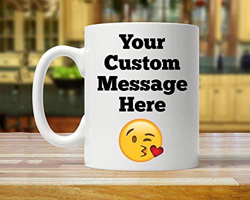 Kaffeetassen für Männer und Frauen, personalisierbare Tasse, personalisierbare Becher, gestalten Sie Ihren eigenen Text, personalisiertes Geschenk, personalisierte Tasse, unbedruckte Tasse
