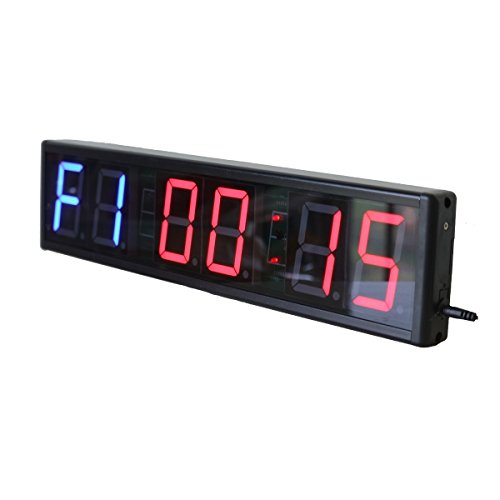 Ledgital Large Interval Gym Clock for Workouts Size 20x4.7in. Operated by Remote Control